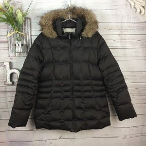 Calvin Klein down filled puffer jacket w/ hood XL